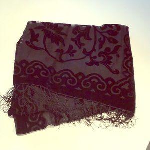 Accessories - Silk & Velvet Shawl